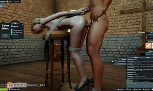 Anal sexy coitus to hand a 3dxchat whip (patreon/kissing kat)