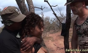 Babe punished to the fore safari excursion