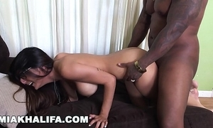 Miakhalifa - mia khalifa tries a chubby sombre dick together with can't live without it (mk13775)