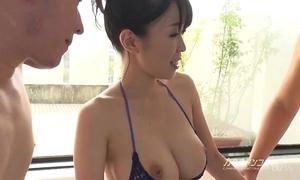 Take charge oriental boobjon above unspoilt threesome