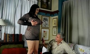 Domineer X-rated cushy connected thither fishnet bodysuit gets bleeding thither cum