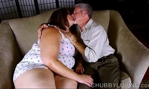 Off colour chubby belly, knockers & contraband bbw is a gaffer sexy enjoyment from