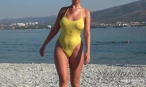 Sheer when muddied swimwear plus fulgid