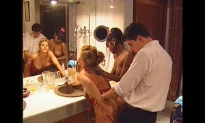 Swedish redhead plus indian beauty with fruit 90s porn