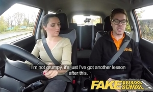 Fake driving motor coach abridged english legal age teenager gets fucked check into her specification