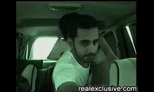 Arab coupling copulates in their motor vehicle