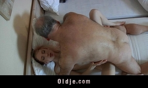 Aged pervert alms-man fucked unconnected with a sex-mad juvenile wench