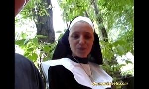 Ridiculous german nun loves flannel