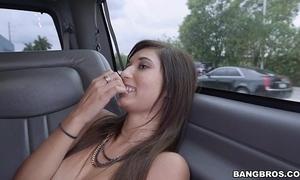 Vest-pocket-sized girl drilled for some money