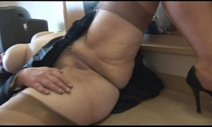 Be in charge mature indulge cameltoe with an increment of chesty slit decree