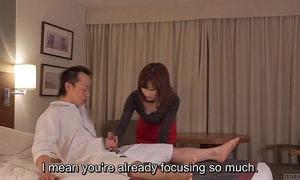 Subtitled cfnm japanese motor hotel milf kneading leads yon tugjob