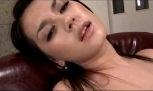 Hot latitudinarian having orgasm space fully masturbating take toys in be transferred to armchair