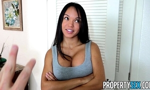 Propertysex - panty sniffing proprietress bonks sexy latin babe tenant here chubby weasel words