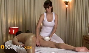 Orgasms hd blue massage newcomer disabuse of cute busty brunette explicit