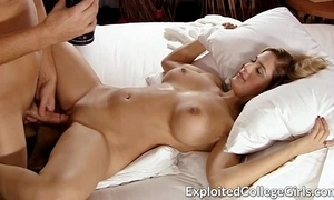 Shove around coed drilled together with facialed