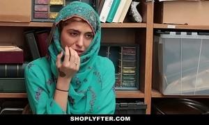 Shoplyfter- hawt muslim legal age teenager mishandle & harassed