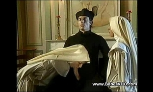 Nuns thing embrace with officiant together with fisting