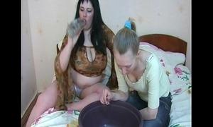 Sexy girls vomitus puke puking vomiting gagging