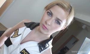 Abigaile cop footjob