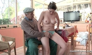 On target titted french overcast gangbanged by papy voyeur