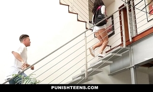 Punishteens - disappointing rachael madori acquires punished & gagged hard by stepmother