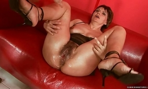 Squirting heavy marital-device mature
