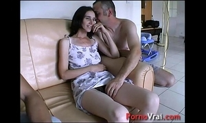 Taken wide of surprise, she squirts on all sides of over the couch! french second-rate