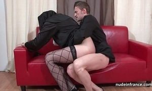 Good-looking juvenile french nun deep anal drilled fisted with an increment of cum in brashness apart from the priest