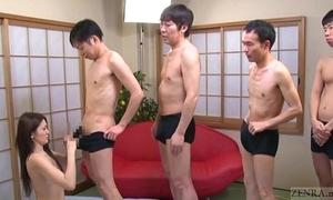 Subtitled japanese av star mona takei oral job lineup