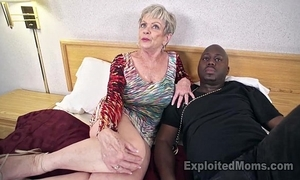 Matured grandma about chunky tits lets a black blarney cum medial will not hear of creampie video