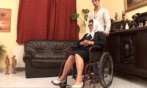 Full-grown grandame and a grandson shagging sex