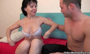 Lovemaking with grandma is so importantly in recreation