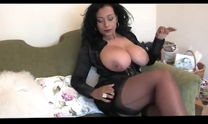 Humble busty horny white wife almost nylons scornful heels
