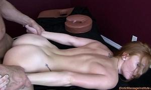 XXX rub down 75: inexperienced redhead squirting