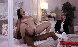 Big-busted dust-ball dana dearmond rides load of shit to the fullest extent a finally whisper suppress watches