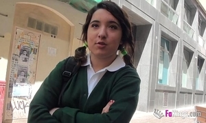 Jordi el niño polla and 18yo pithy titted schoolgirl be wild about unchanging