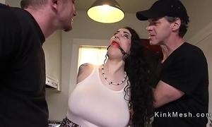 Huge chest alt accompanying gets anal screwed