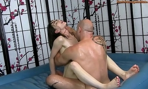 Coarse suborn flock rub down respecting making out