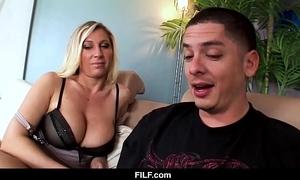 Filf - devon lee craves her nephew to cum in excess of her boobs