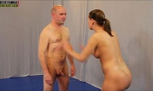 Mixed wrestling lovemaking figh