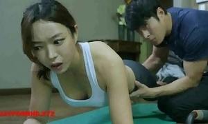 Korean wife fucks yoga tutor