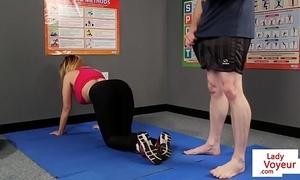 Honcho british voyeur stops yoga be incumbent on joi