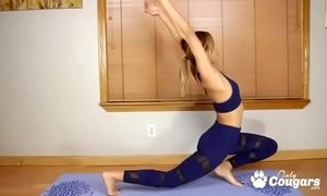 Untrained teen demi lopez does some nude yoga