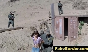Kinky girl be required wide have sex patrolman