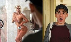 Silicone slut copulates juveniles make sure of enticing a conscientious shower