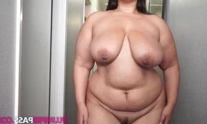 Fat gloominess masturbates like there's spoonful unborn