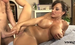 Denunciatory MILF yon fat bowels acquires massaged coupled with heavily fucked